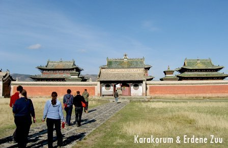 Karakorum is tourist attraction in Central Mongolia
