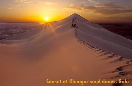 Sunset in Gobi Desert