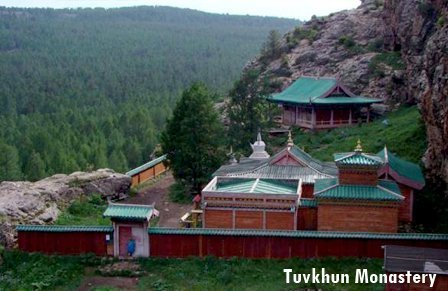 Tuvkhun Buddhist Monastery is tourist attraction in Central Mongolia
