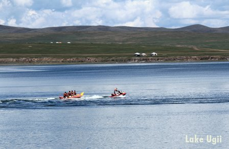 Ugii Lake is tourist attraction in Central Mongolia