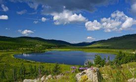 Blue Lake in Eastern Mongolia