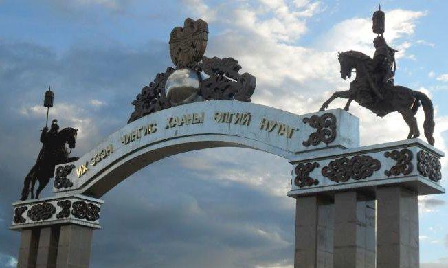 Chinggis City Gate in Khentii province
