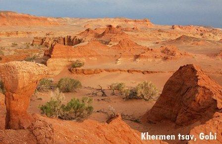 Khermen Tsav is tourist attraction in Gobi Desert