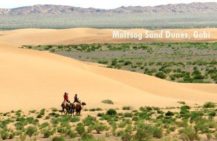 Moltsog sand dunes in Gobi Desert