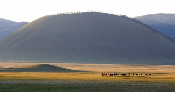 Uran Extinct Volcano in Northern Mongolia