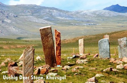 Uushig Deer Stone in Northern Mongolia