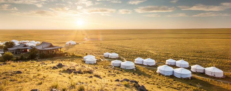 Three Camel Lodge in Gobi, Mongolia