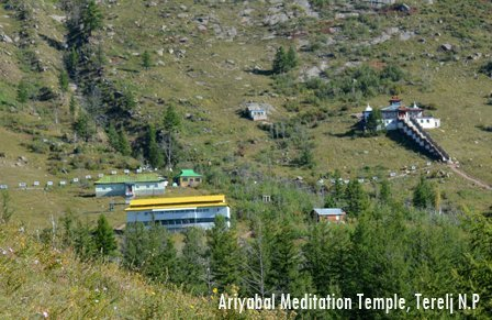 Ariyabal meditation temple is a tourist attraction of Mongolia