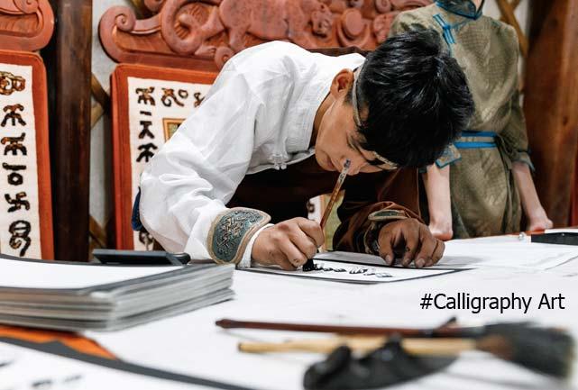 Mongolian calligraphy Art