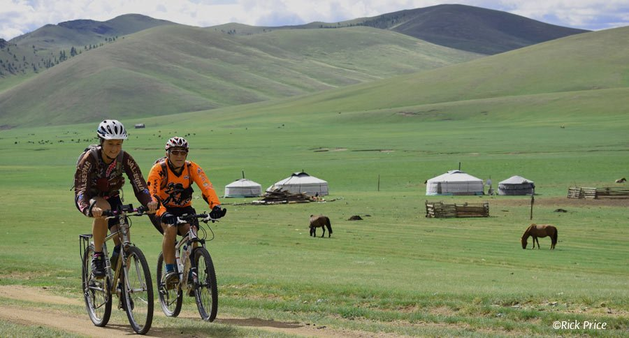 Bicycling in Mongolia