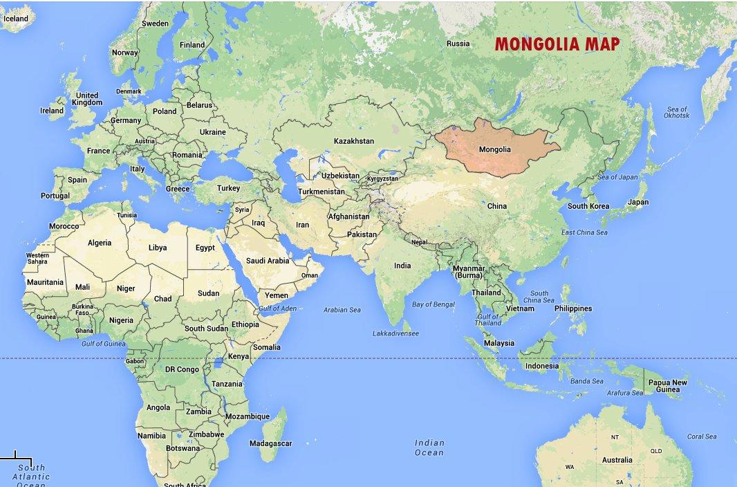 Mongolia - World Map | Mongolia Travel Guide