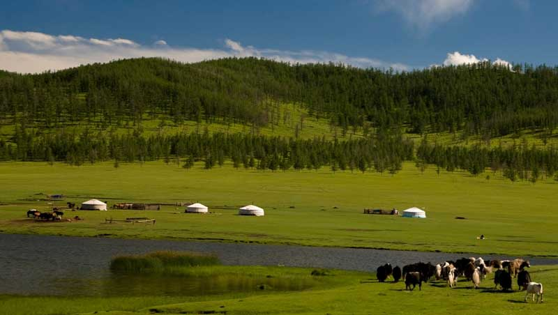 Tsenkher Hot spring of Mongolia