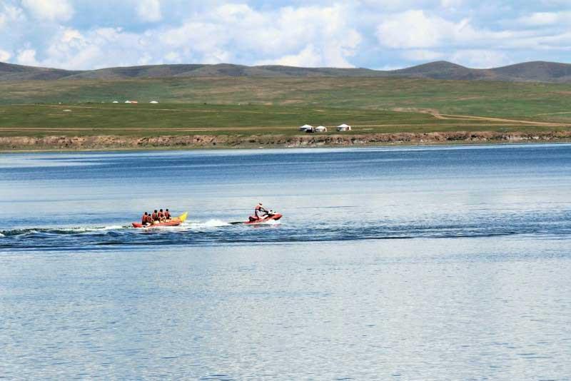 Ugii lake or Ogii in Mongolia
