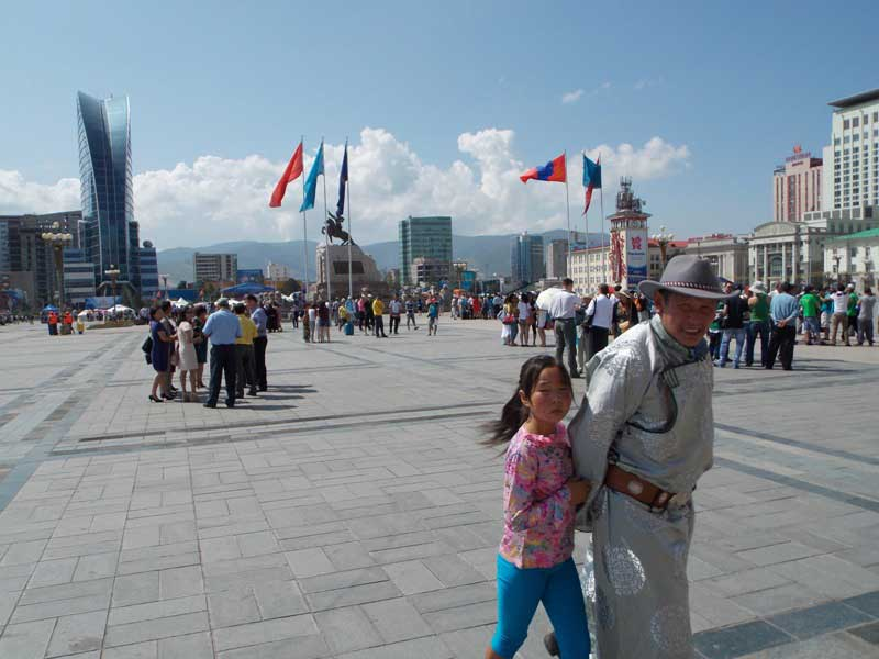 Central square of Ulaanbaatar