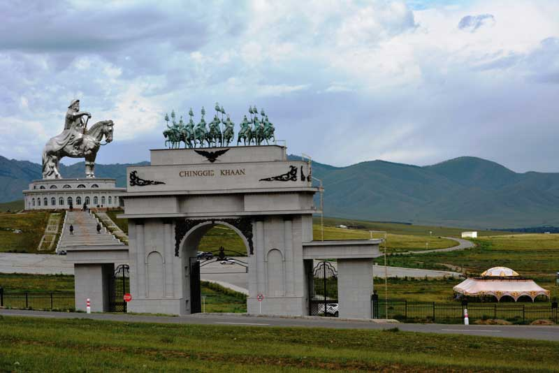 Genghis Khan's Statue complex in Mongolia