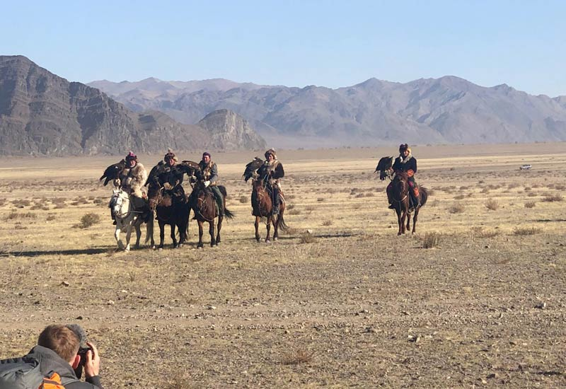 Eagle hunters in Western Mongolia
