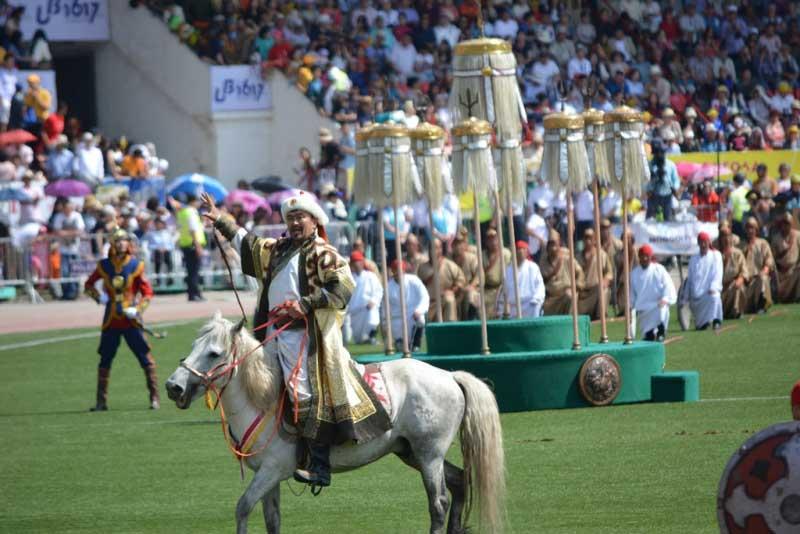 Opening ceremony of Naadam Festival