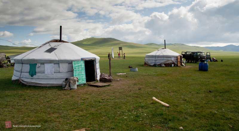 Mongolia Nomadic family