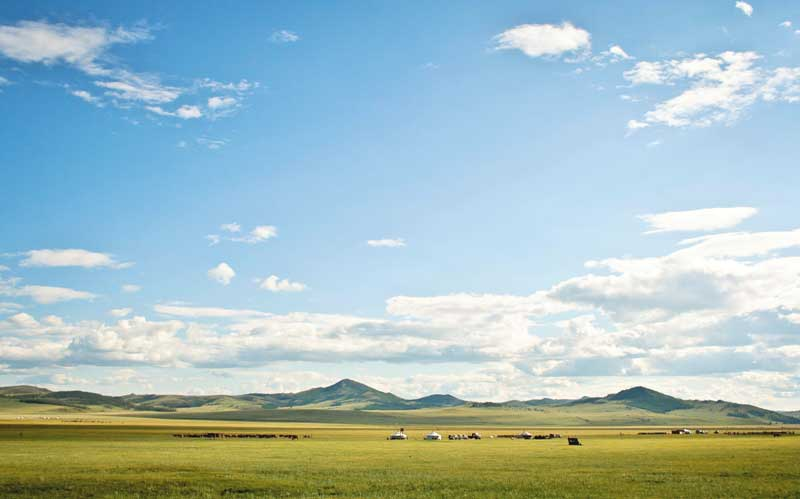 nomadic family in Mongolia