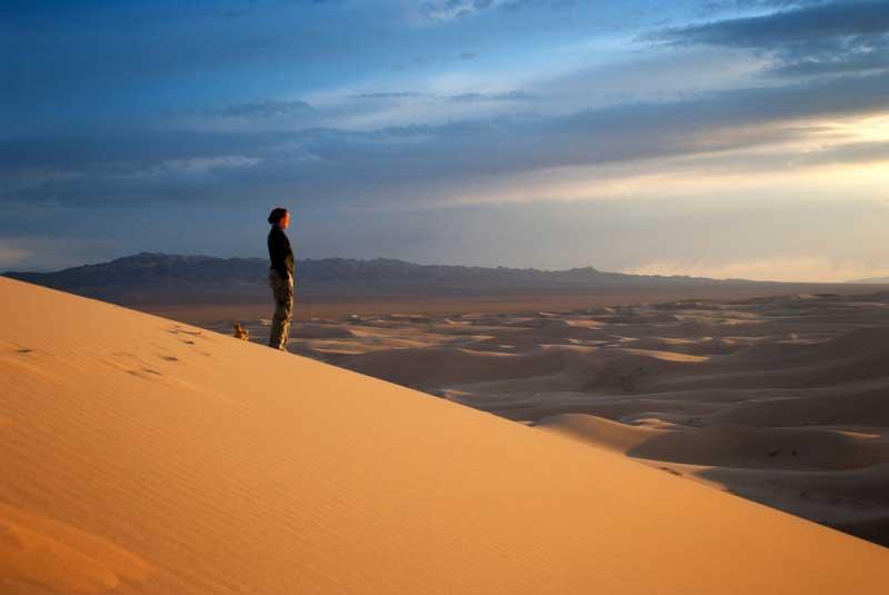 Sunset in the Gobi Desert, Mongolia