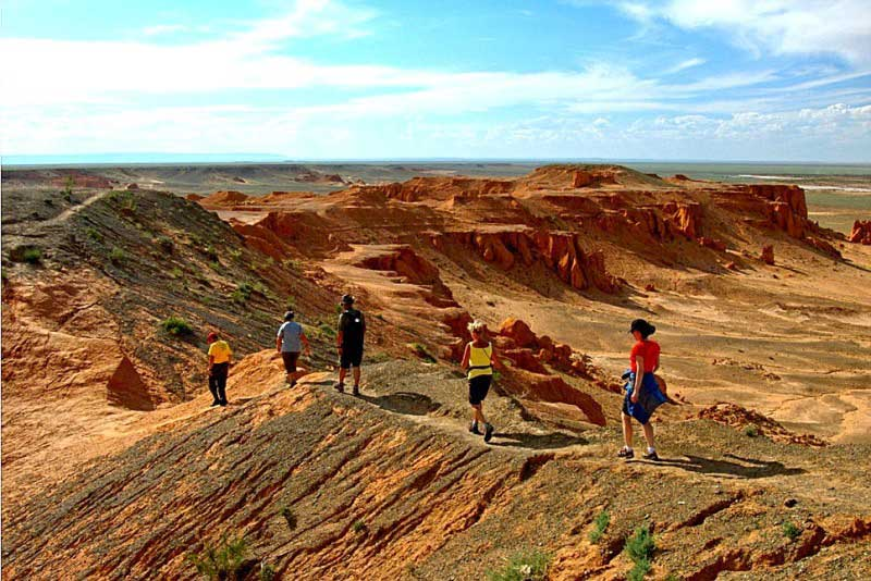 Bayanzag is tourist attraction of Mongolia