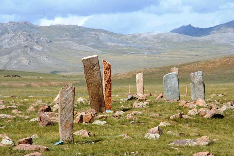 Uushig deer stone in Northern Mongolia uushiin uvur