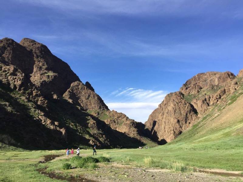Eagle valley in Gobi
