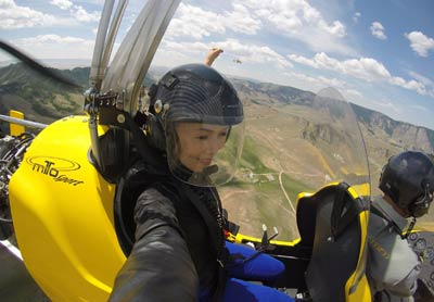 Autogyro flights in Mongolia